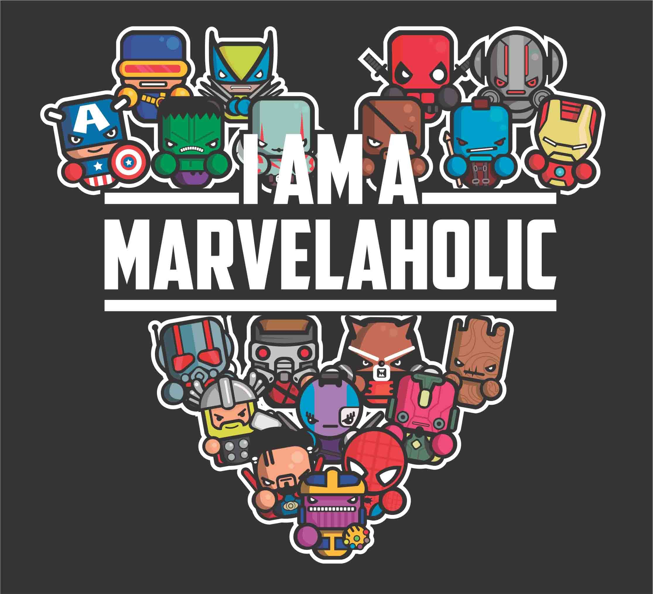 I Am A Marvelaholic Svg Avengers Endgame Clipart Cricut
