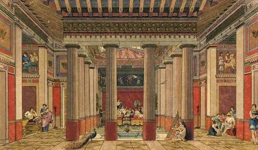 Inspiration for the interior of the healing temple in for Ancient roman interior decoration