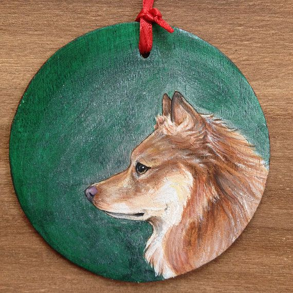 Icelandic Sheepdog Ornament Holiday Spitz Christmas by whippetdog