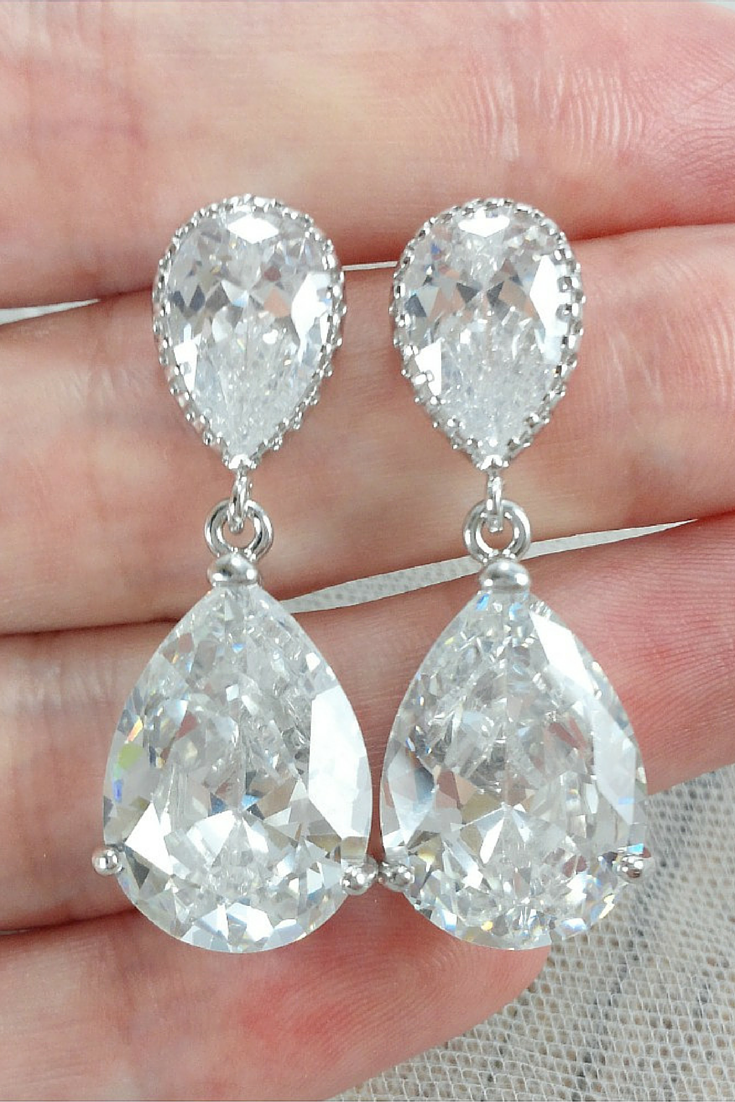 cinderella earrings wedding the and brides