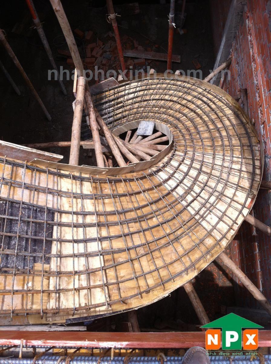 V n ph ng b nh i n ph xinh escalera construccion for Encofrado de escaleras de concreto