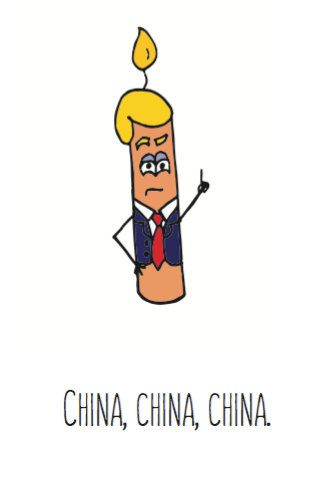 Donald Trump China Printable Cartoon By CandleiniCards