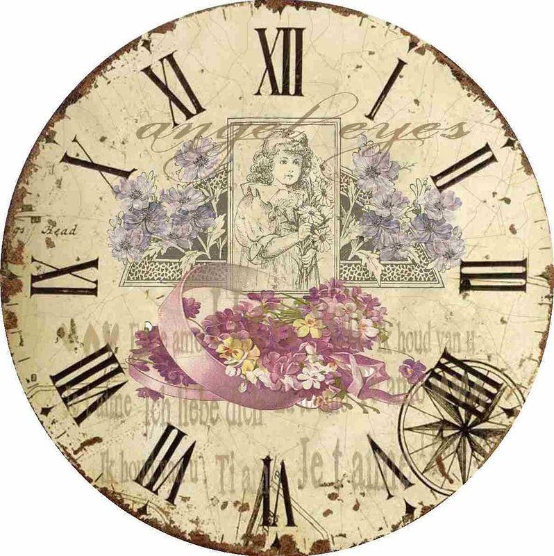 Clock face printables pinterest - Reloj pared vintage ...