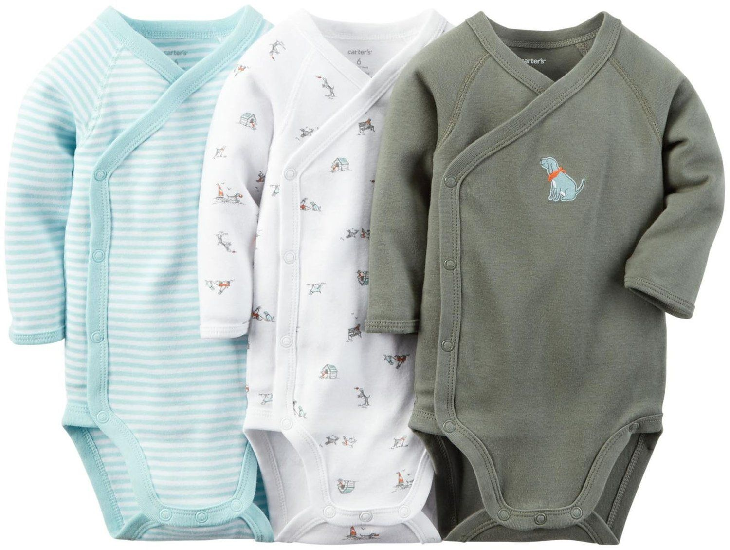 Carters Baby Boys 3-Pack Side-Snap Bodysuits Bodysuits