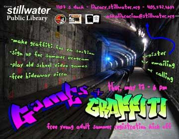 Games and Graffiti for young adults @ SPL