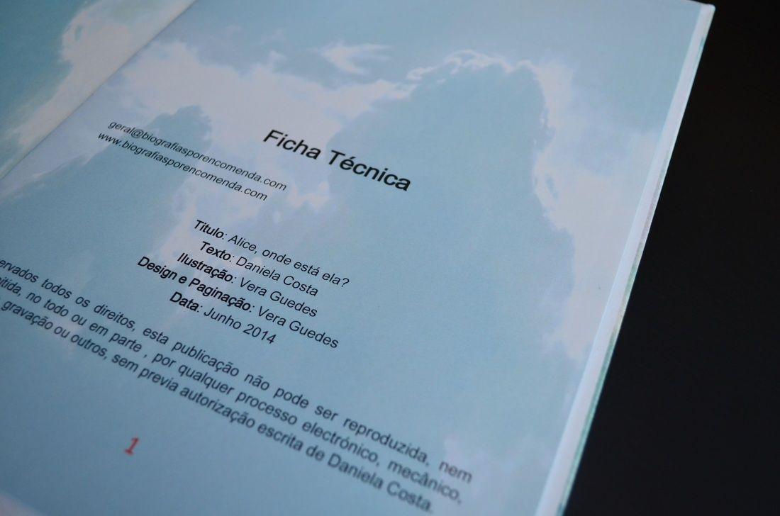 Ficha Técnica. Livro Personalizado