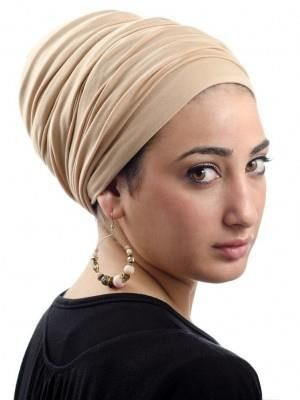 A turban that you can add pzazz to.
