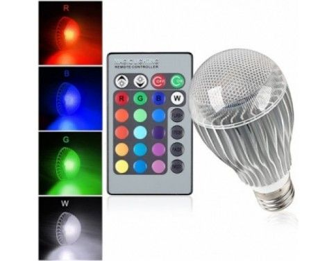 10 Watt Color Changing Led Light Bulb With Remote Control Powered By 3 Vibrant Led S And 10 Watts Of Power Its The Brightest Multi Color Led Bulb And Mood Li Led