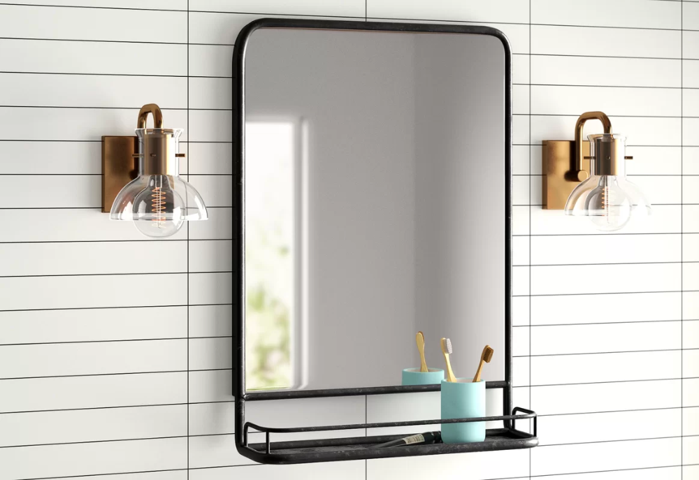 Ashtyn Accent Mirror with Shelves AllModern in 2020