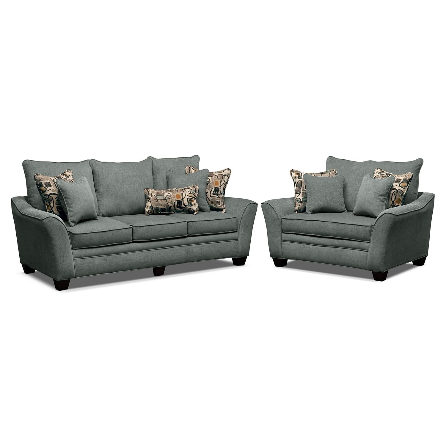 Living Room Chair And A Half Living Room Furniture Mandalay Ii 2 Pc Living Room W Chair And