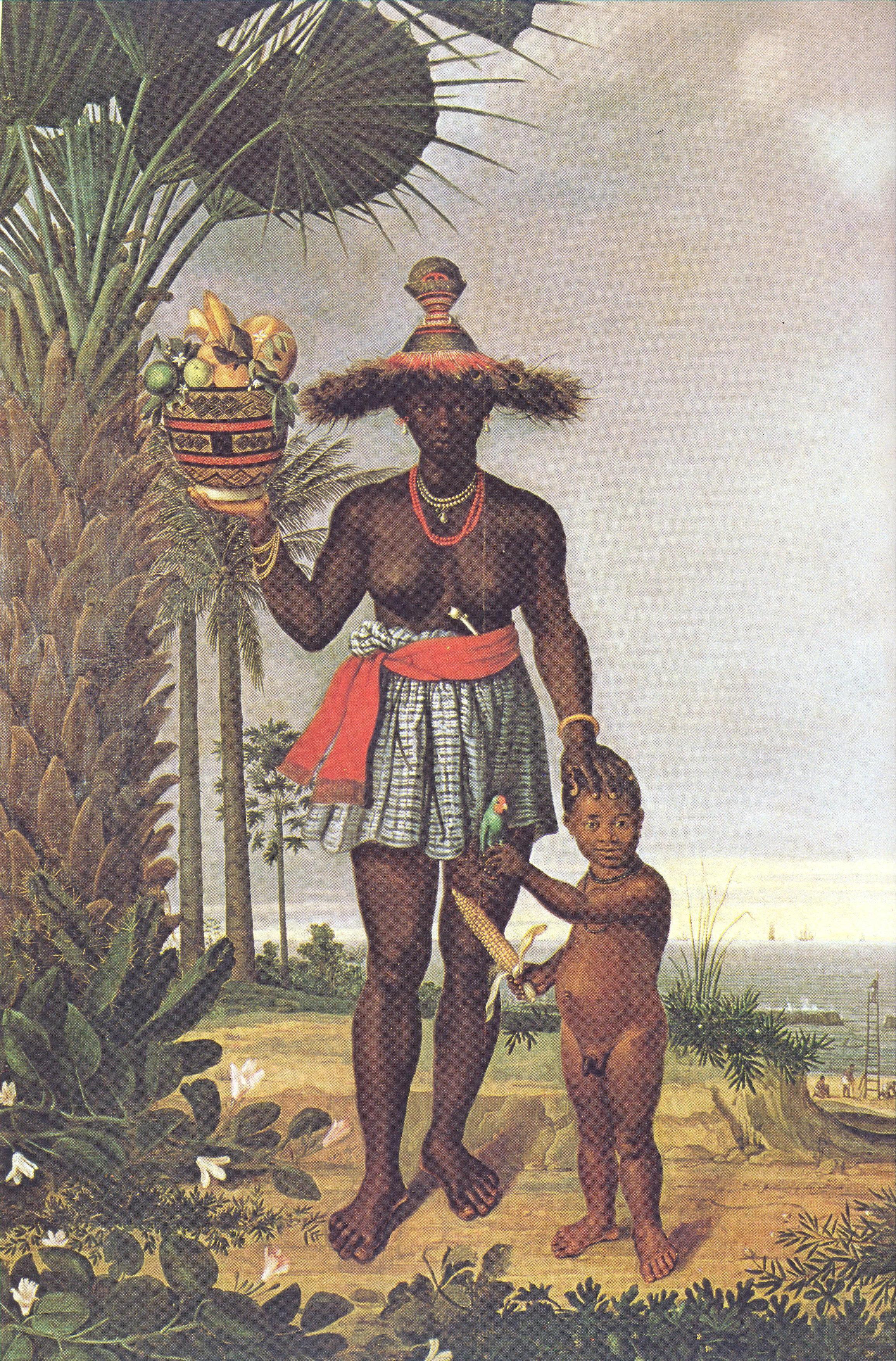 Albert Eckhout Negra Com Crianca C 1640 Nationalmuseet