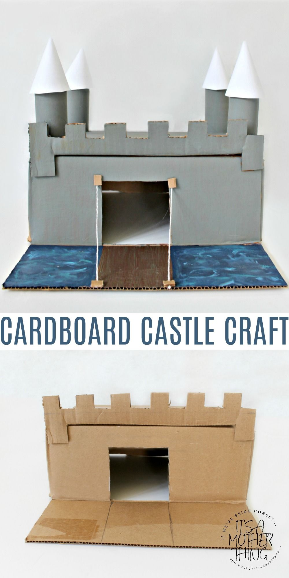 Create Your Own Cardboard Castle Diy Pinterest Crafts