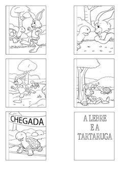 A Lebre E A Tartaruga Com Imagens Lebre Tartaruga Contacao