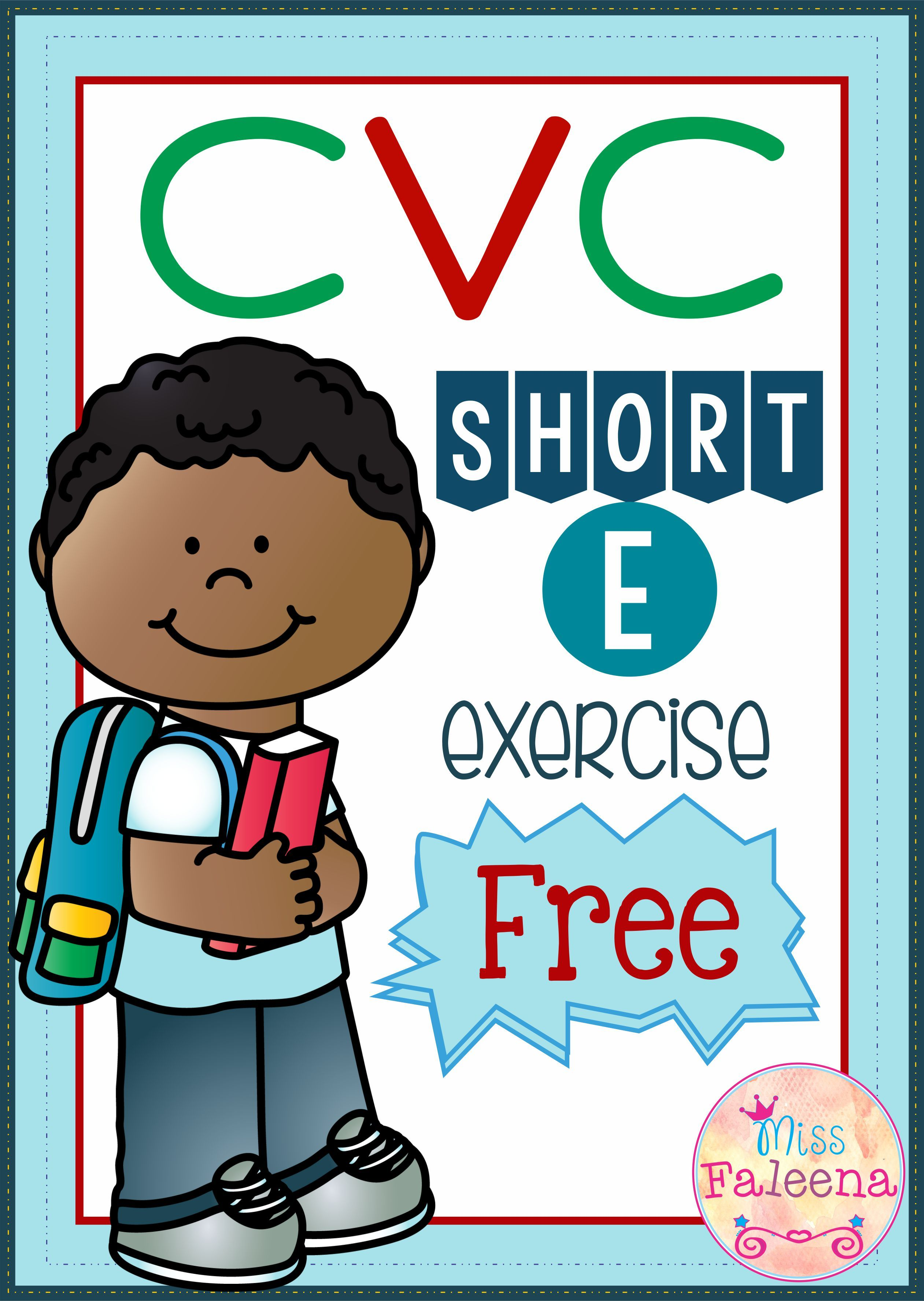 Free Cvc Word Exercise Short E