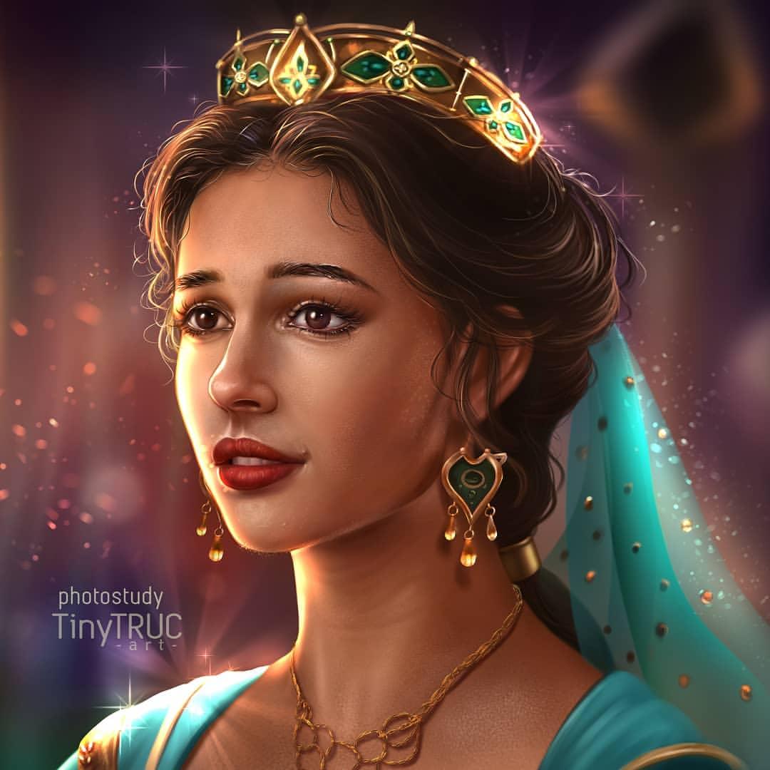 Princess Jasmine Naomi Scott By Tinytruc Art On Instagram
