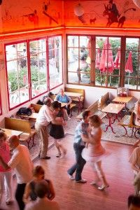 Chez Gégène--a guingette in Marne, outside of Paris, where people spin to a giddy valse musette