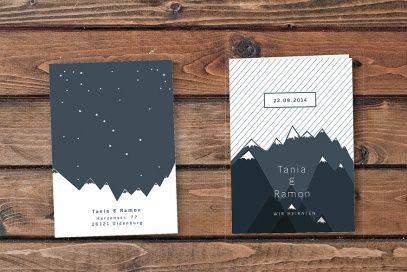 Heiraten In Den Bergen. Hochzeitsfeier Auf Einem Berg. #Hochzeitskarten # Einladungskarten #CHILIPFEFFERdesign