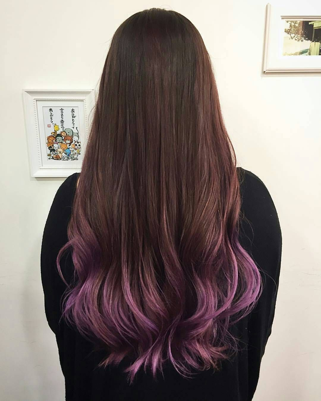 A Hint Of Purple At The Ends Of Your Hair The Gradient Of