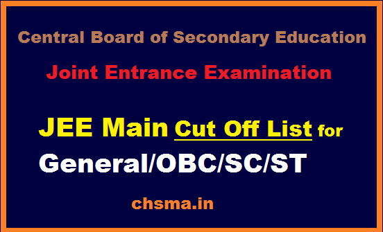 JEE Main Result http://chsma in/jee-main-passing-marks-obc