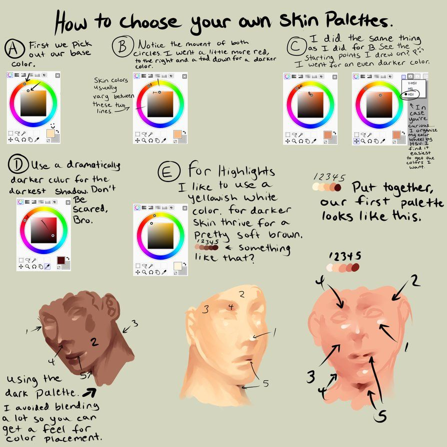 How To Pick Out Your Colors For Semi Realism by *XxXKaraXxX