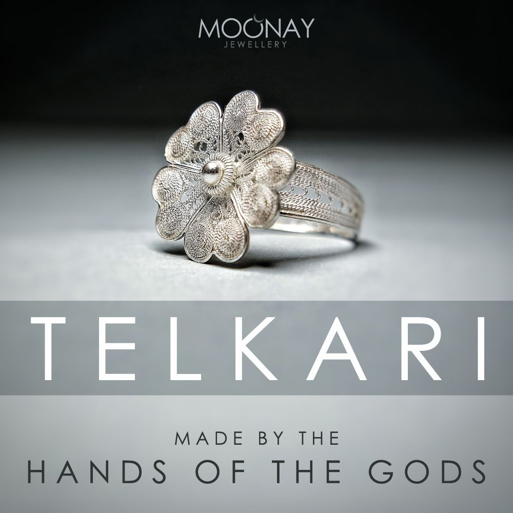 """""""Telkari"""" is kind of a needle work or lacework using silver as thin as hair. Telkari method has been used in Anatolia since 2500 B.C.  Telkari rings, earrings and necklaces will be on sale very soon."""