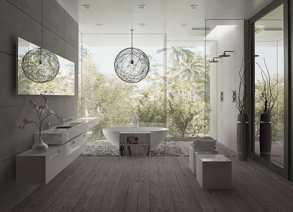 amazing bathroom design ideas with wood deck bathroom and