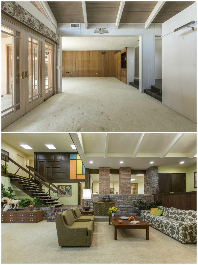 Check Out the Brady Bunch House Before and After Its Big '70s Redo