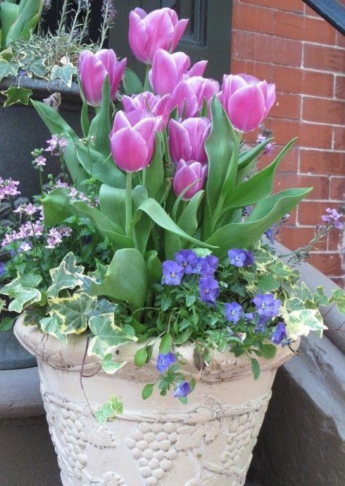 inspiring spring pots and planters am nagement paysager. Black Bedroom Furniture Sets. Home Design Ideas