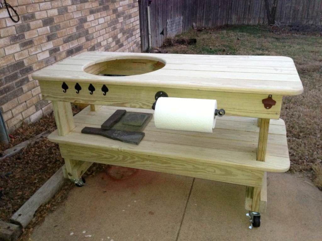Elegant Big Green Egg Tafel Bouwtekening | Big Green Egg Table Plans Stainless Steel  Kitchen Sinks Bathroom