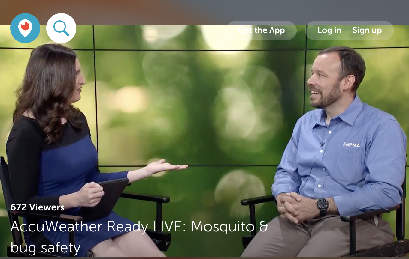 Our chief entomologist Dr. Jim Fredericks and AccuWeather
