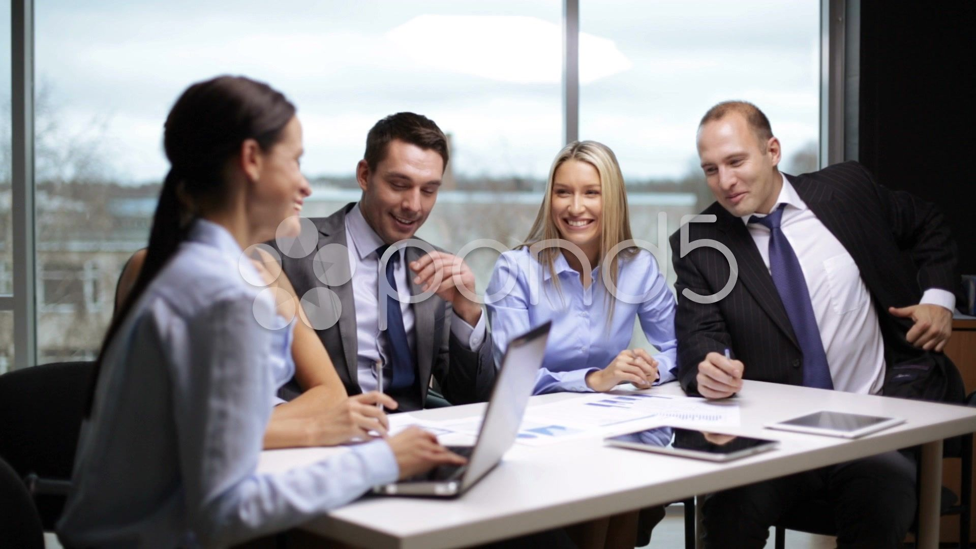 Business People Having A Meeting Stock Footage People Business