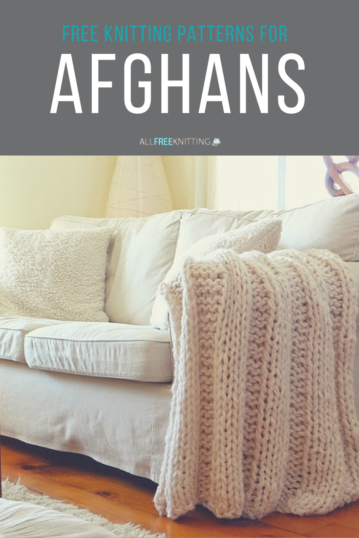 Learn how to knit an afghan - lots of free patterns here. | Knitting ...