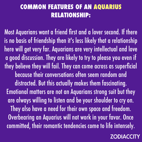 Sagittarius woman dating aquarius man