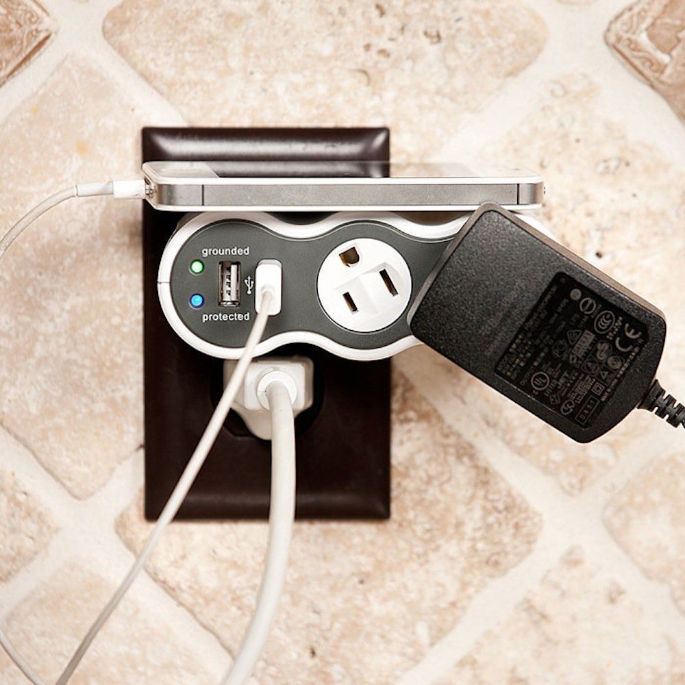 Rotating Outlet Power Bar Gadgets, gizmos, Cool