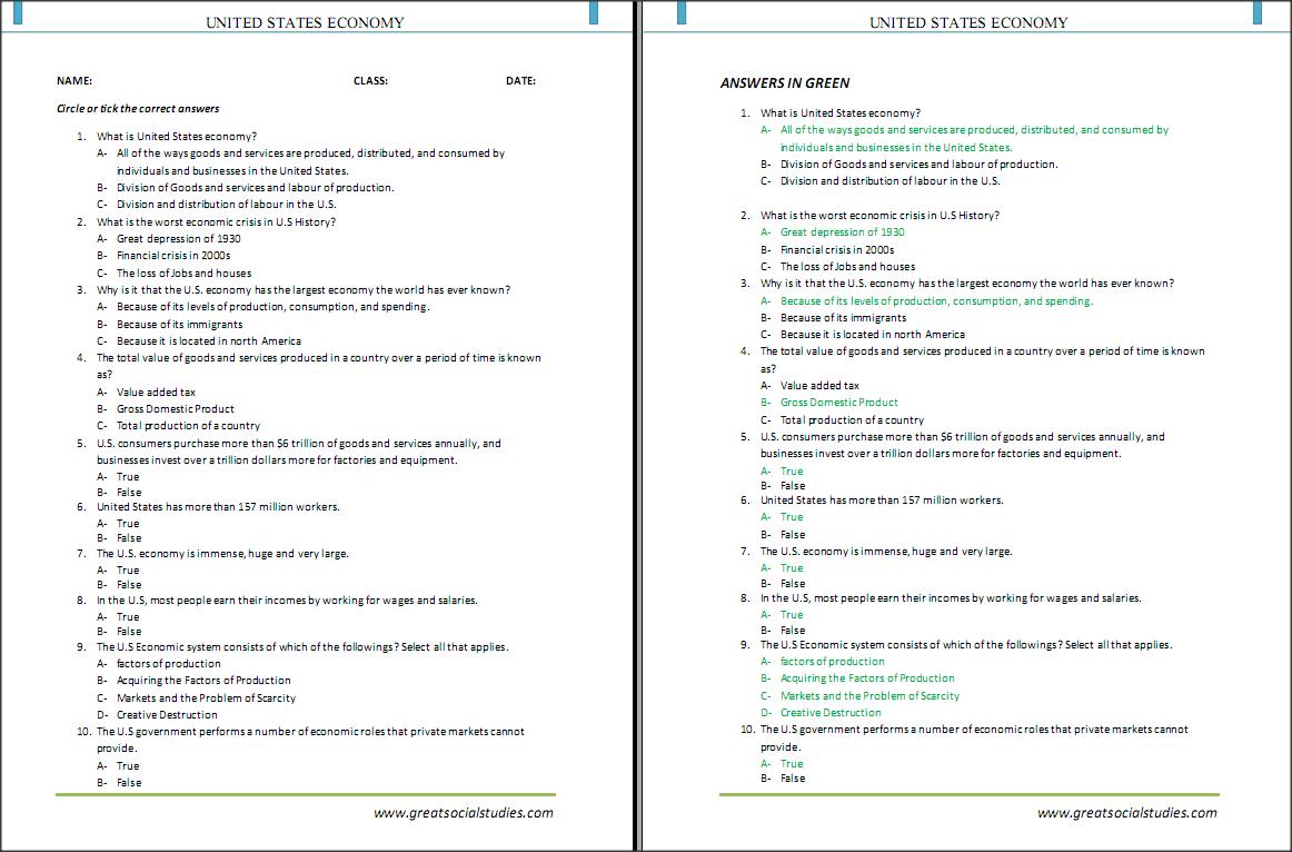 Quiz & Worksheet - Economic Growth and Development | Study.com