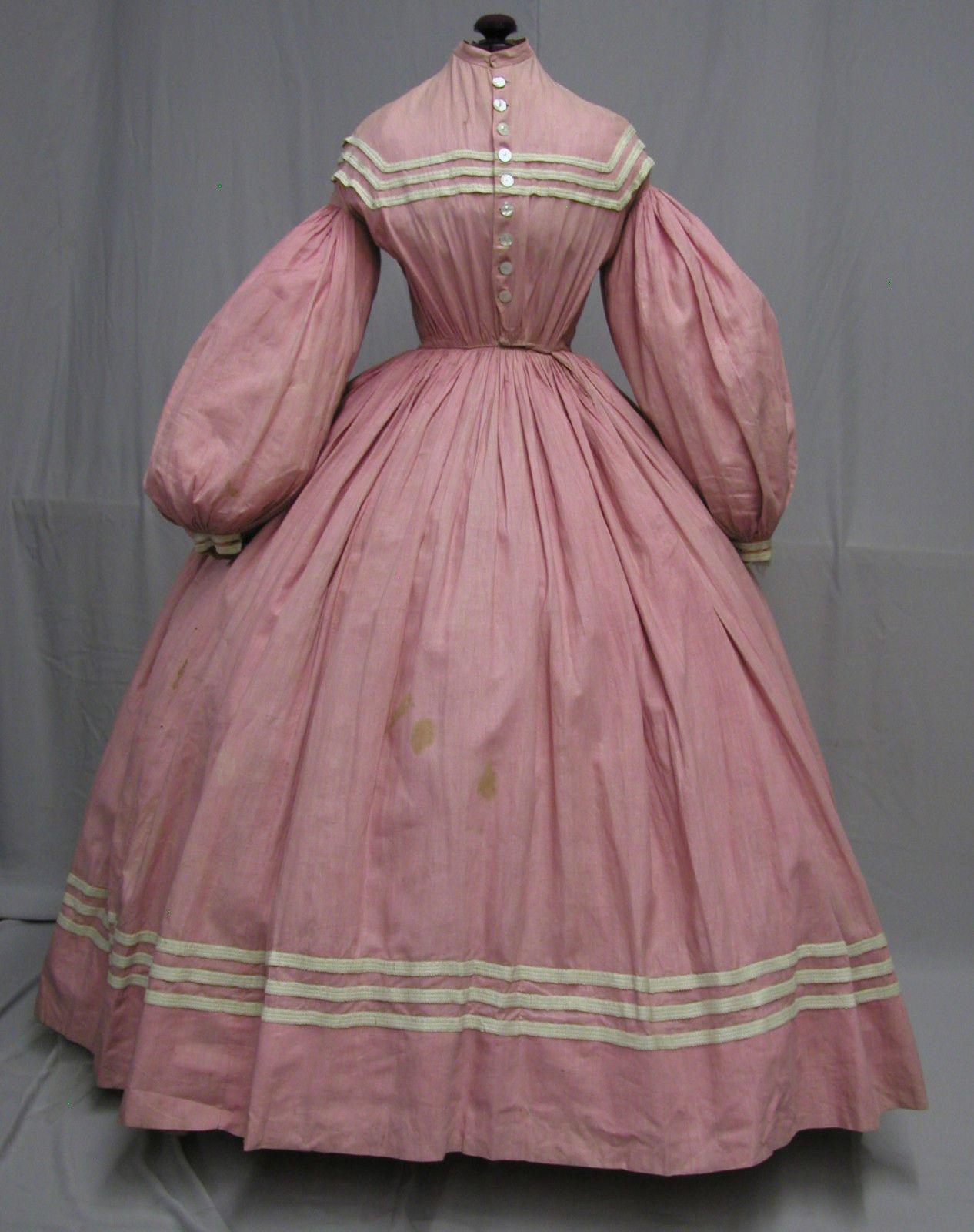 1148 Spectacular 1860 S Civil War Era Pink Cotton Daytime Ensemble Civil War Dress Civil War Fashion Victorian Fashion [ 1600 x 1266 Pixel ]