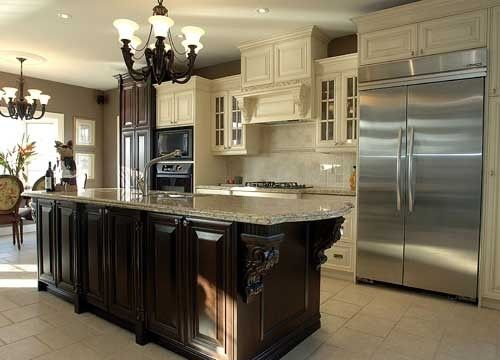 Pics With Cherry Cabinets And Black Islands The White Cabinets And Dark Country Kitchen Designs French Country Kitchens French Country Decorating Kitchen