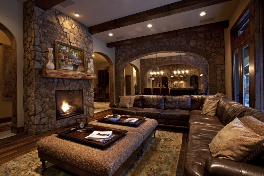 The Rustic Interior Design Is All About Nature Woods Stones Wrought Iron Natural Rustic Living Room Design Living Room Decor Rustic Farm House Living Room #rustic #living #room #design