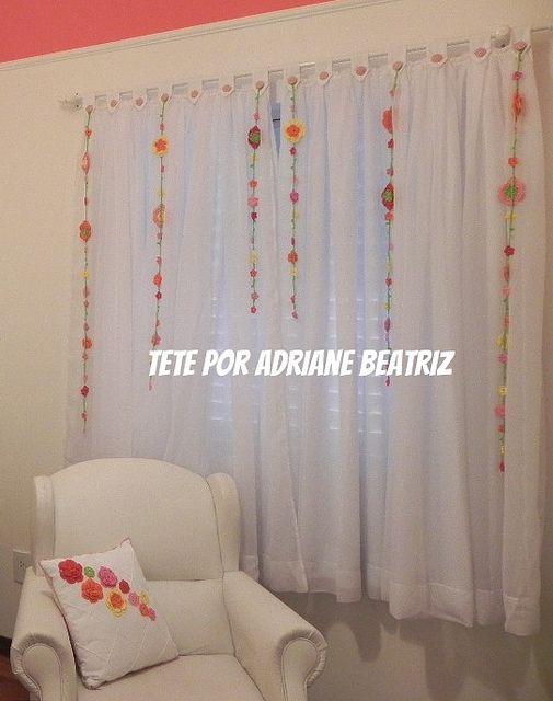 cortina com pingentes de crochê Décor Pinterest - schone schlafzimmergardinen wohlfuhlfaktor
