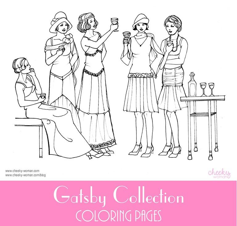 Coloring Pages And Pictures – Roaring Twenties 1920s The As Well As ...