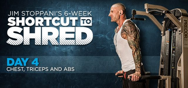 Bodybuilding.com - Jim Stoppani's Shortcut To Shred: Day 4 - Chest, Triceps, Abs
