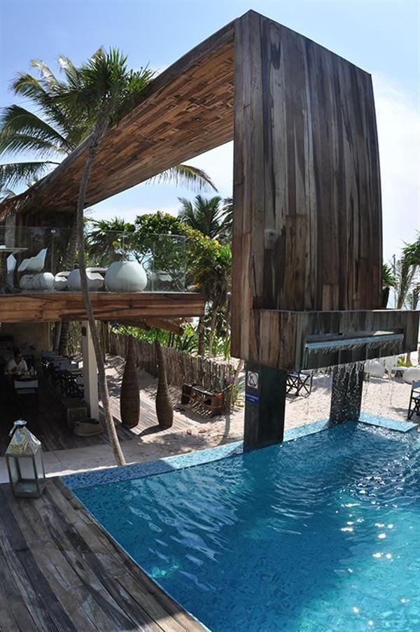 resort garden design   ... Sas : Tropical Outdoor Pool And Garden Design Ideas Pool Design