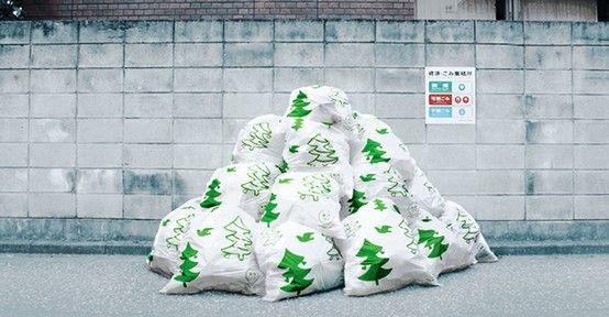 tree trash bag - Christmas Tree Garbage Bag