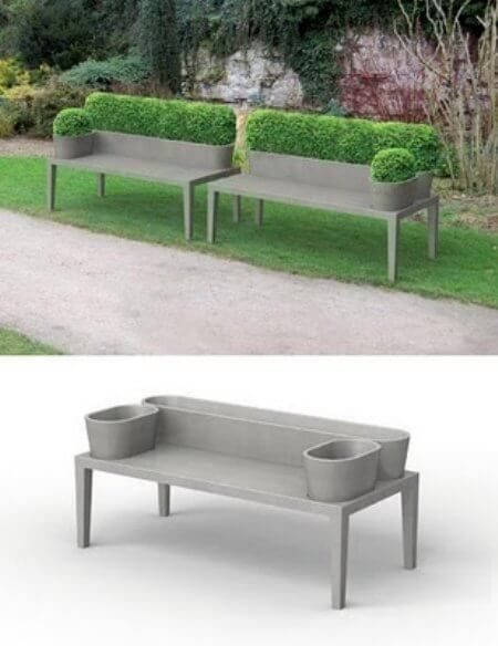 bench ideas outdoors cemento decorativo muebles de concreto rh pinterest es