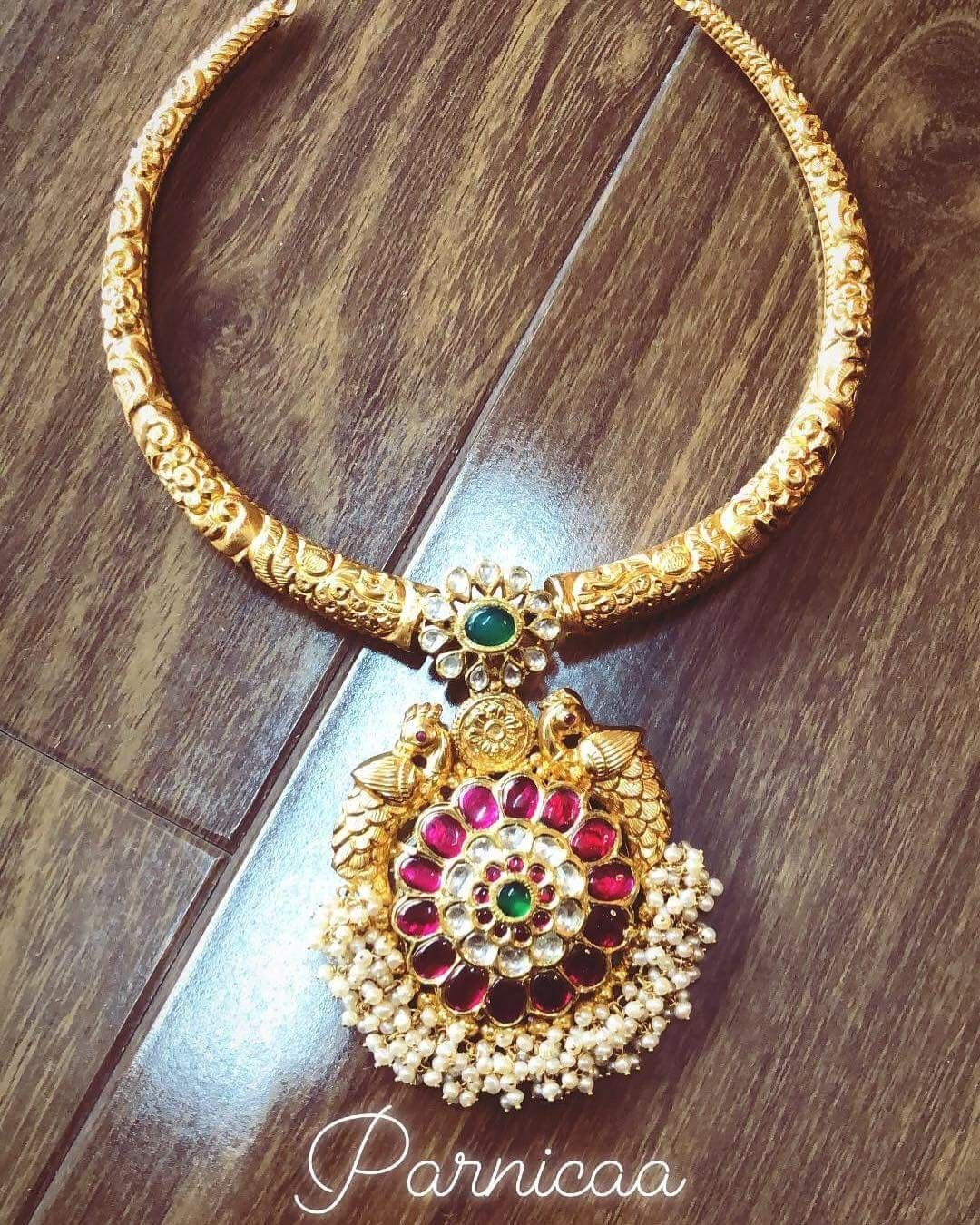 Pin by anoos jewellery on jewellery designs pinterest jewelry