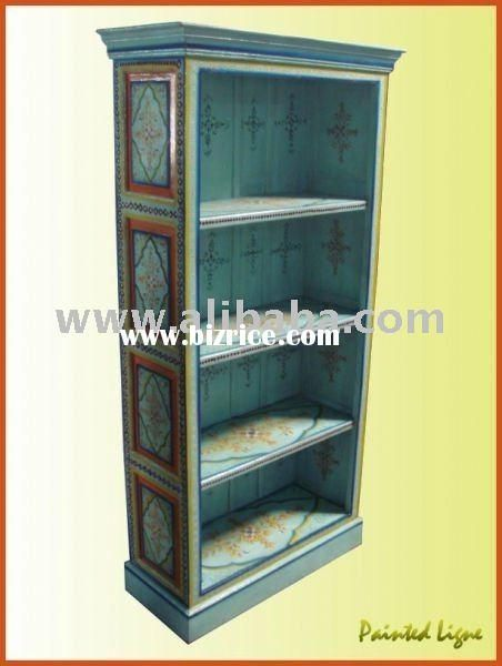 hand painted bookcases indian painted furniture possible rh pinterest com