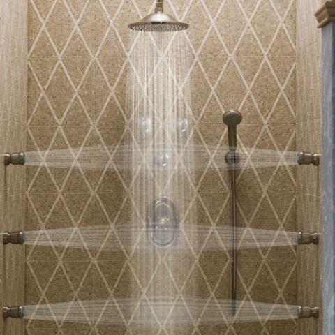 Trevi deluxe adjustable body spray alternate view shower for Body spray shower systems