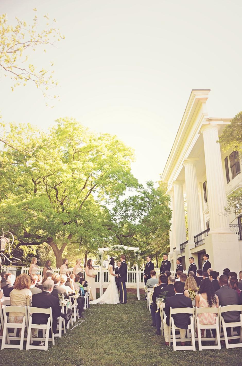 intimate wedding packages atlantga%0A Antebellum Mansion Wedding Ceremony Georgia  Chair Rental Atlanta  Taylor  Grady House