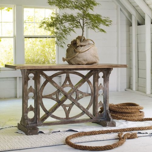 cool console table for the home hooker furniture diy garden rh pinterest com