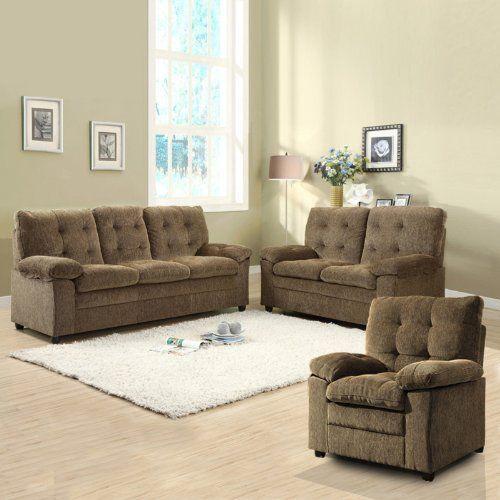 dawson chenille sofa set brown by homelegance 999 99 chenille rh pinterest com